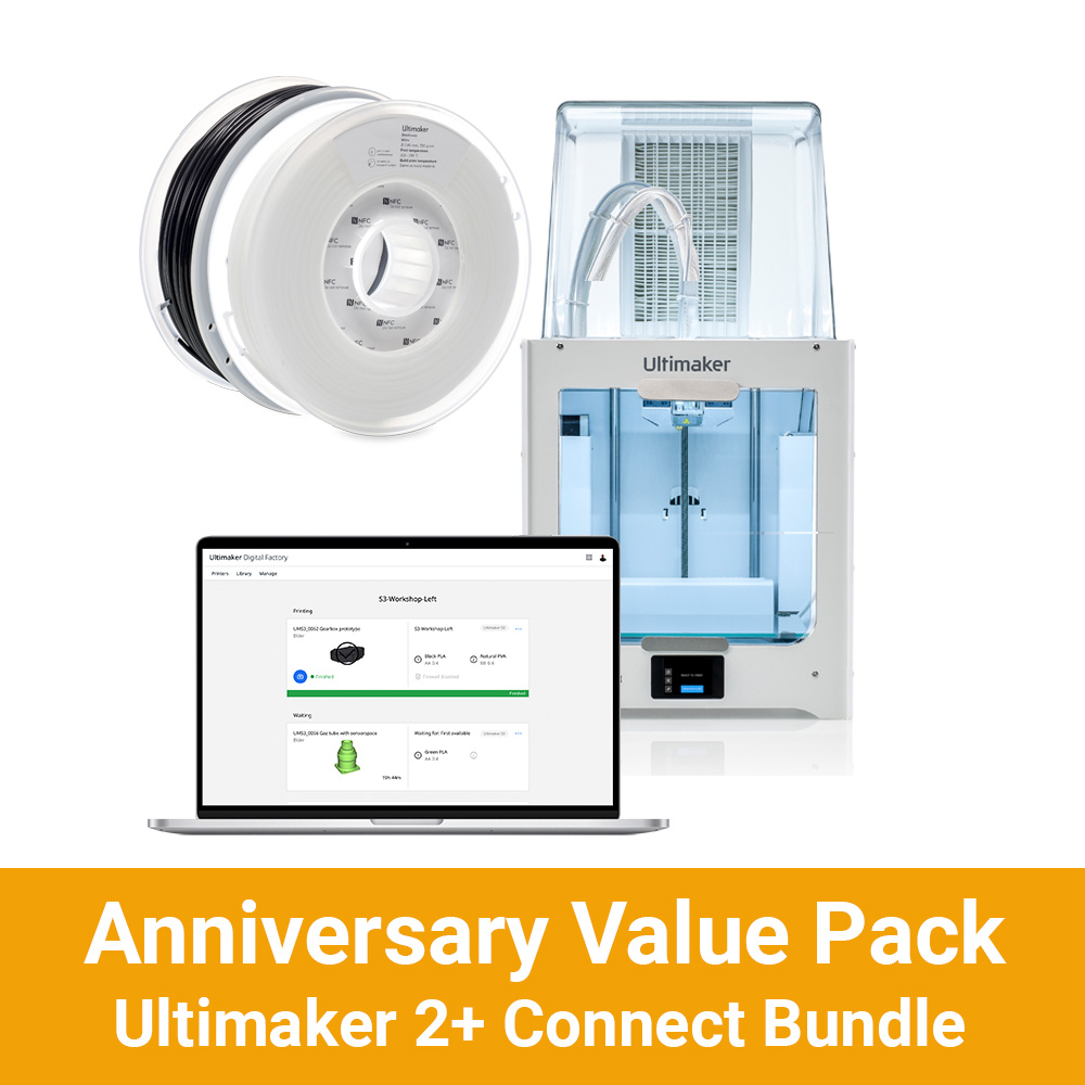 Anniversary Ultimaker 2+ Connect Bundle Value Pack